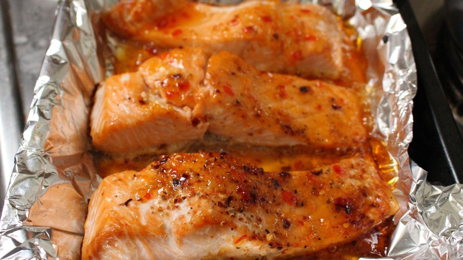 Roasted Sweet Chilli Salmon