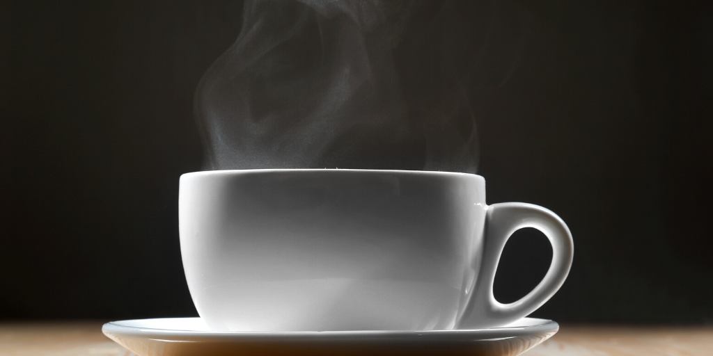 Image of a cup of tea steaming
