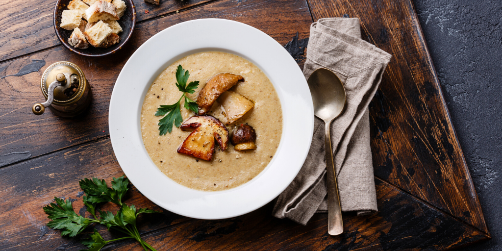 leek and mushroom soup